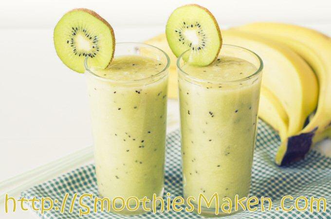 Smoothie bannaan kiwi