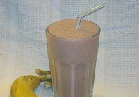 Aardbei banaan smoothie
