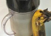 Bananenmilkshake maken