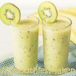 Smoothie met banaan en kiwi: lekker afkoelen op een hete dag